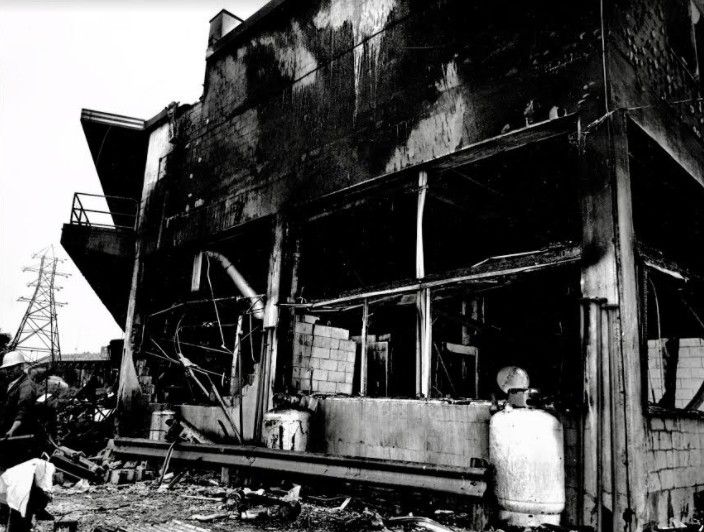 The aftermath of the Irving service station explosion is pictured here. It's important for Saint Johners to remember the 47th anniversary of the explosion this month, writes columnist David Goss.