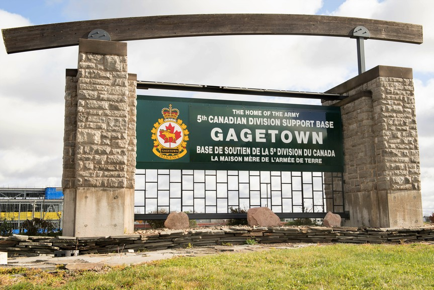 Fifth Canadian Division Support Base Gagetown.