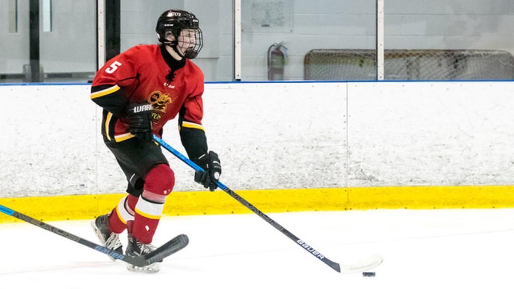 Saint John Vito's veteran Maclaren Dick leads a young defensive corps for the NB-PEI Under-18 Hockey League team.