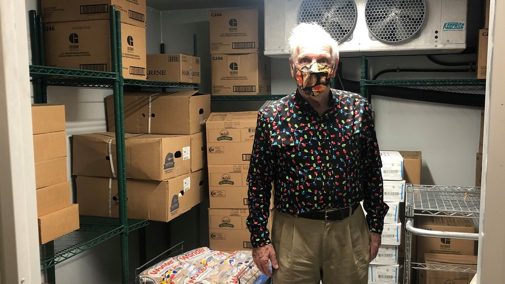 Harry Cross has been a volunteer with the West Side Food Bank for 17 years.