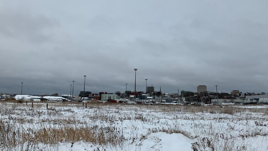 Snow is still thick in uptown Saint John.