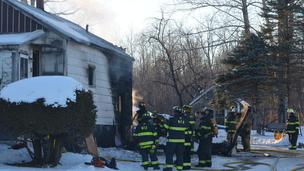 Woodstock firefighters were called to a structure fire that damaged a home on Route 103 in Upper Woodstock on Sunday afternoon.