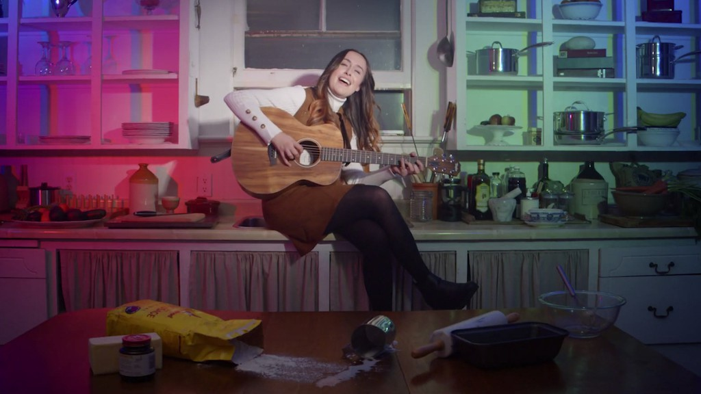 Campbellton musician Émilie Landry is shown in a screenshot from a video for her song, 'Bouillir d'la misère', which has beennominated for an award at the Canadian Independent Music Video Awards.