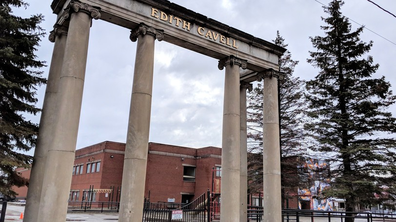 Edith Cavell School in Moncton closed early on Wednesday due to building operations.