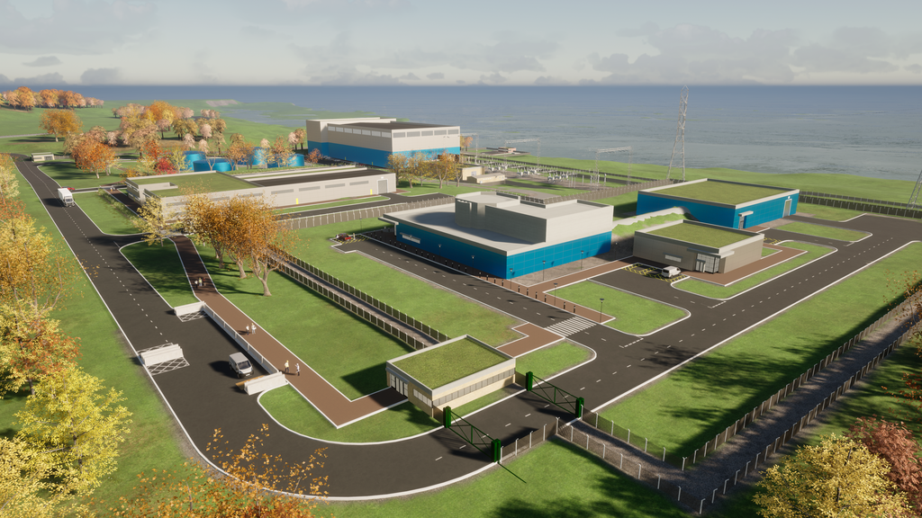 A rendering of a potential Moltex small modular reactor. Nuclear energy is a crucial part of tackling climate change and getting New Brunswick to net-zero emissions, argue the authors.