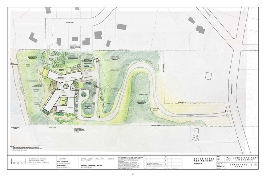 Ethos Ridge is a new retirement community proposed for Millidgeville. It would be located off Sandy Point Road.