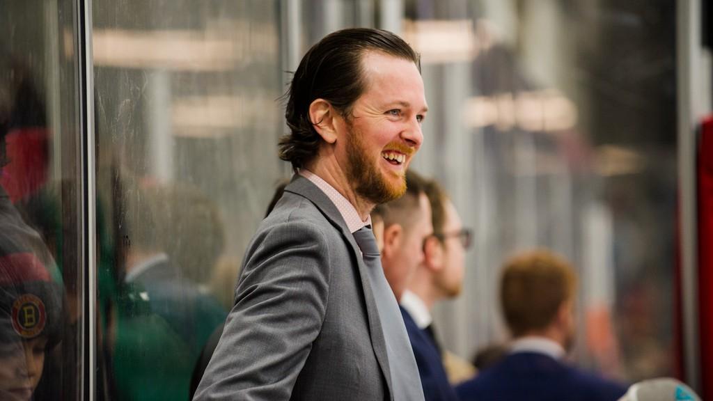 St. Thomas University grad Matt Tidcombe is hard at work these days with the Ottawa Senators of the National Hockey League.