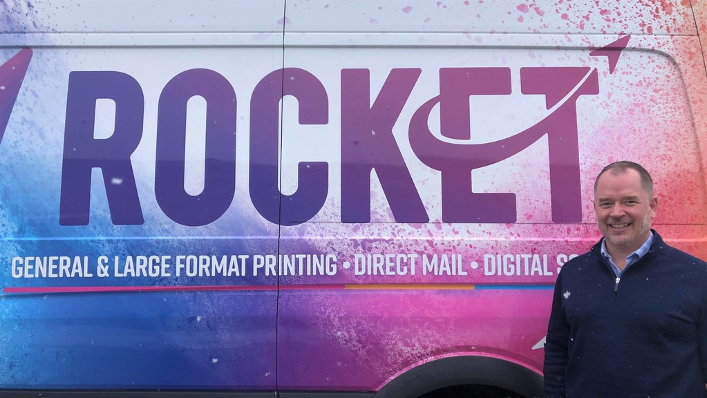 Scott Williams is CEO of Rocket, the new name for two businesses that merged 13 months - his Taylor Printing Group in Fredericton and Bounty Print in Halifax.