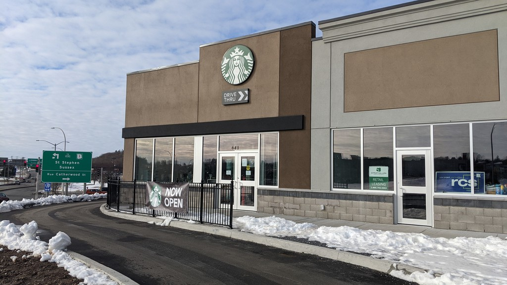 Starbucks opened a new location on Harding Street on Thursday.