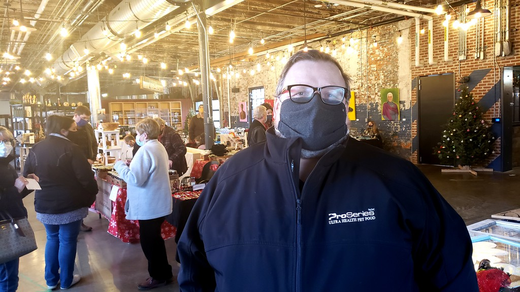 Jim Middleton, the board chair of the North Side Creators Market, at the market's former location at the Picaroons Roundhouse last December.