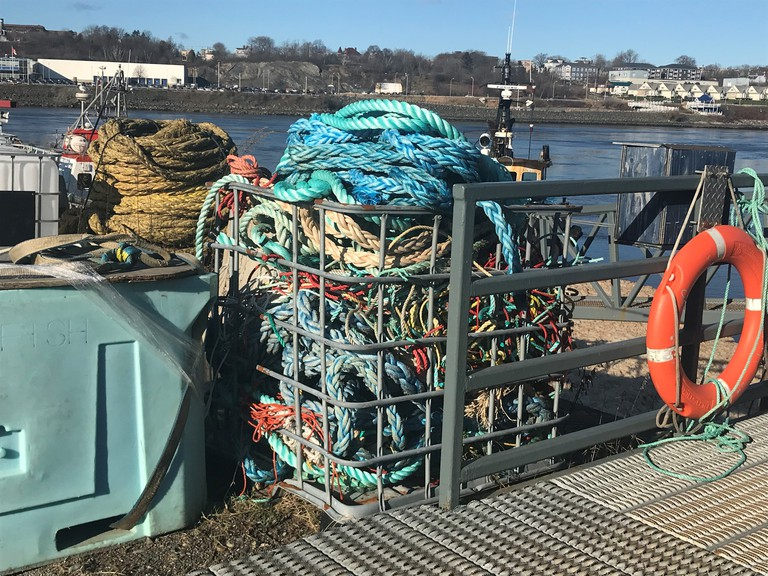 Port Saint John recycled 2,700 pounds of rope in 2020 as part of the Huntsman Marine Science Centre's Debris Free Fundy initiative.