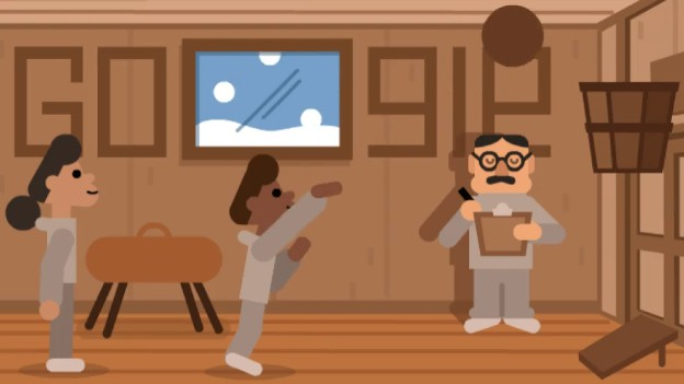 A Google Doodle appearing on the search engine's home page on Friday celebrating Canadian-born basketball inventor Dr. James Naismith has St. Stephen connections.