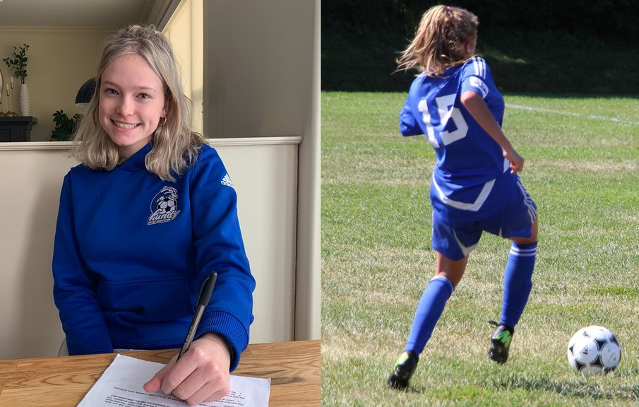 Rothesay's Ella Mercer, a 17-year-old wing back, is the first member of the 2021 recruiting class for the UNB Reds women's soccer team.
