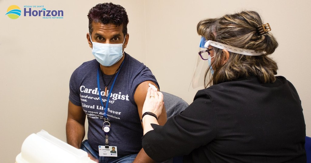 Dr. Sohrab Lutchmedial was among the nearly 1,000 health-care professionals to get the COVID-19 vaccine at the Saint John Regional Hospital this weekend. Lutchmedial is a cardiac surgeon at the hospital's New Brunswick Heart Centre.