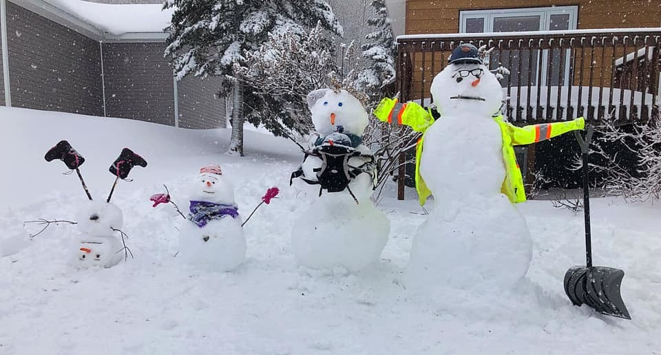 This snowman by Tiffanee Goebel picked up fifth place in the Snowman Challenge.