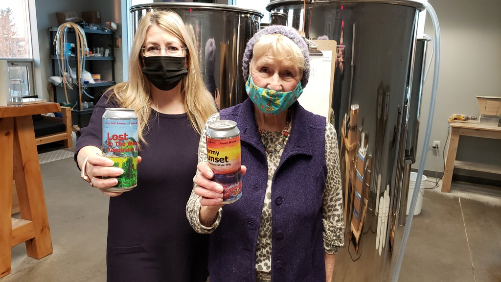Linda Foss, Johnny Jacks head of marketing, and her mom Dorothy Foss, who did the paintings for all the beer labels, are hoping the family's small Oromocto brewery survives NB Liquor's new rules.