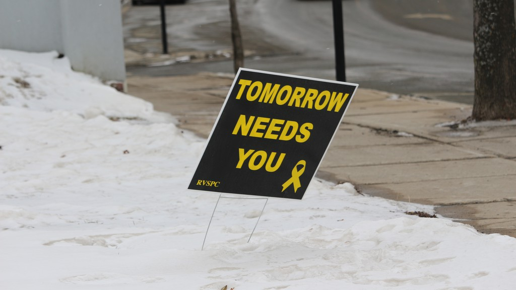 Signs are one of the ways the River Valley Suicide Prevention Committee has tried to connect with people during the pandemic.