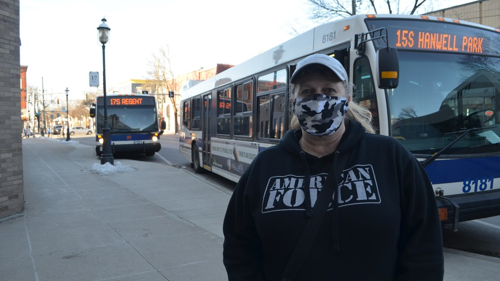 Kerry McMinniman said she thinks if passengers are required to wear masks at all times while on the bus, then drivers should be as well.
