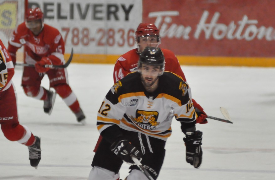 Brandon Brazeau scored a pair of goals in a 6-1 Campbellton Junior A Tigers win over the Fredericton Red Wings on Dec. 15, the last time the cats have played on home ice. The Tigers have not played a game since Dec. 19, a 6-1 road win over the Miramichi TImberwolves and it's not known when they might play another because of the ongoing COVID-19 issues in New Brunswick.