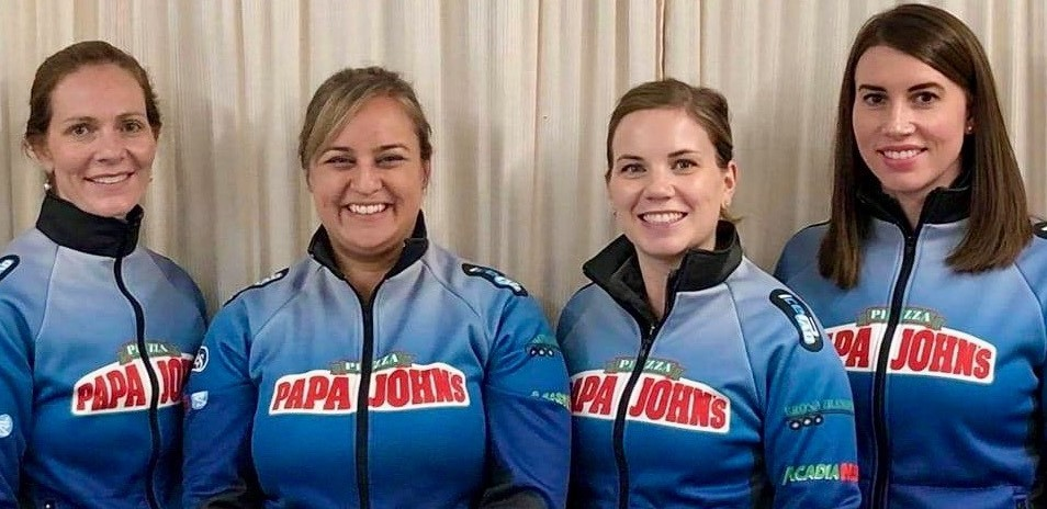 Fredericton's Capital Winter Club crew of, from left, skip Melissa Adams, second Nicole Bishop, lead Kendra Lister and mate Jaclyn Tingley will be representing New Brunswick at the 2021 Scotties, the Canadian women's curling championship, Feb. 19-28 in the Calgary bubble.