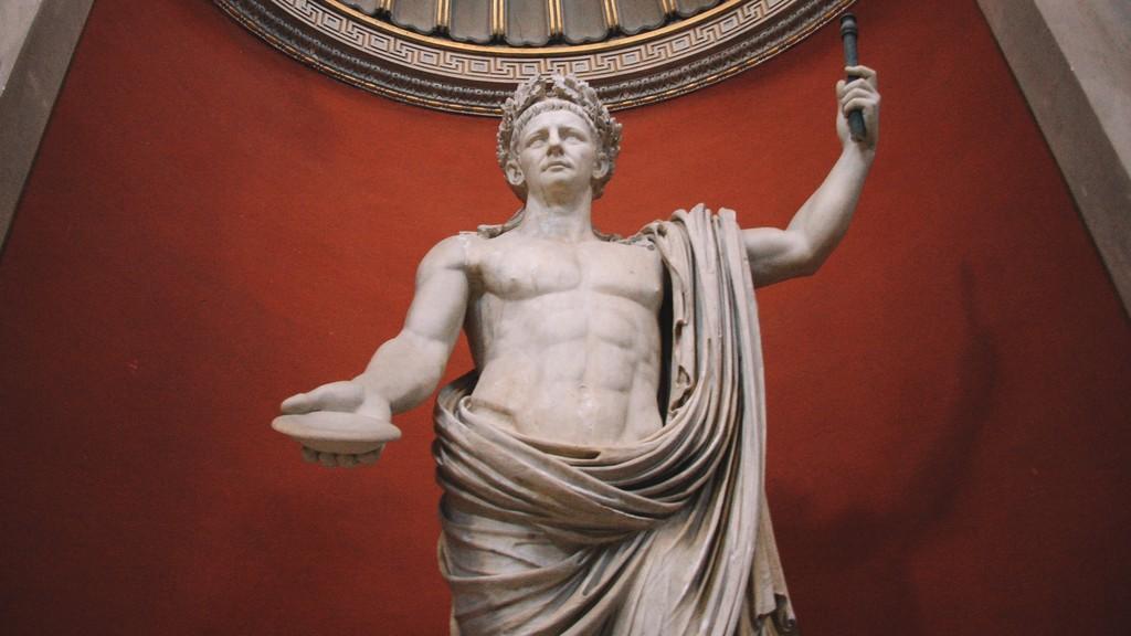 A sculpture of Roman emperor Tiberius Claudius Caesar Augustus Germanicus in Vatican City. Bill Clarke pontificates this week on empires past and present.