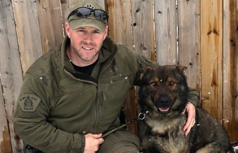 Cpl. Jason Muzzerall, a handler with the RCMP's police dog services unit, is based out of Happy Valley-Goose Bay. Together with his service dog Jerry, they'll assist other officers from finding missing persons and drug warrants to high-risk takedowns, and homicide investigations.