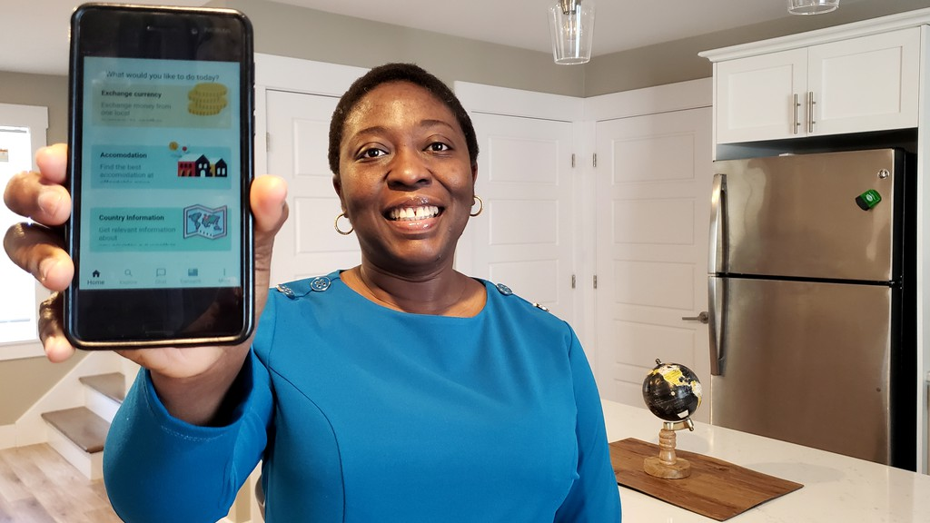 Olubukola Abiola, head of business and strategy at Welkom-U Inc., a company that is launching a new app next month called Welkom-U to provide information to help newcomers settle in Canada.