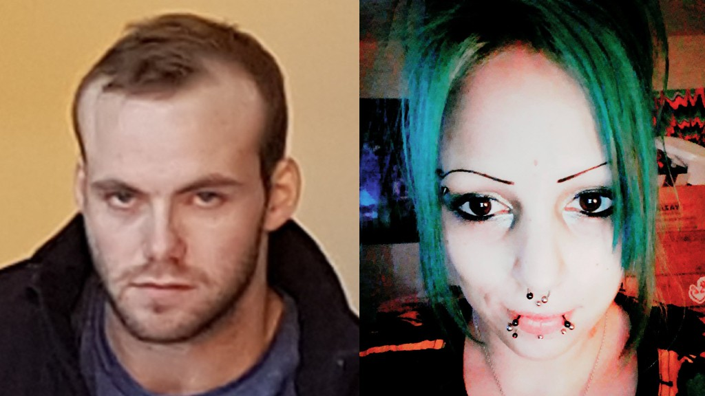 Mitchell Ryan Keenan, left, is seen in a 2019 file photo, and Amber Cole Davis, right, is pictured in a 2018 Facebook photo. They face a joint charge of arson stemming from an incident at Knights Inn on Lincoln Road on Monday.