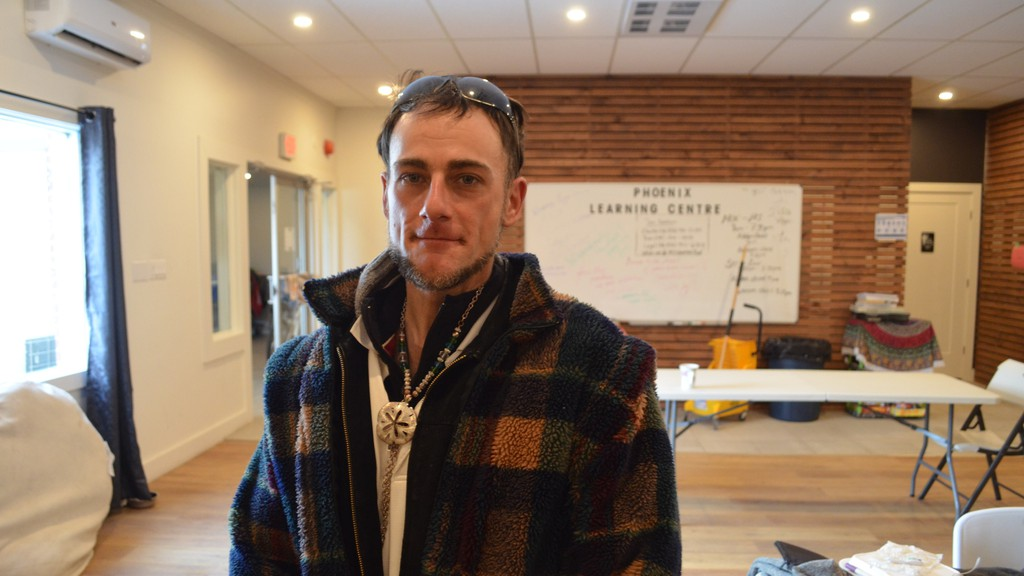Billy Page, who's been homeless since last summer, said the red phase of the province's COVID-19 recovery plan made life more complicated, as he could no longer go to coffee shops to warm up and have a meal.