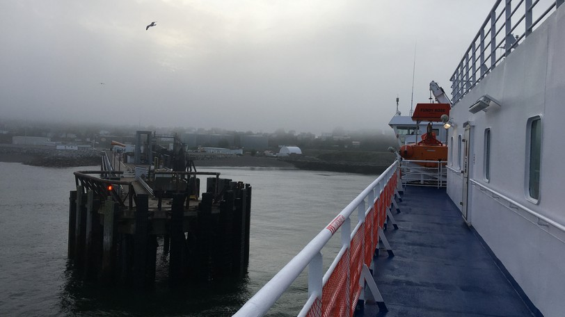 View of Saint John from the Fundy Rose, which offers ferry service from the port city to Digby, Nova Scotia. Mechanical issues cancelled the service on Friday.