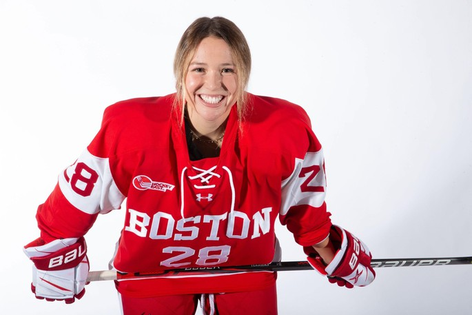 Dieppe forward Catherine Foulem of the Boston University Terriers.