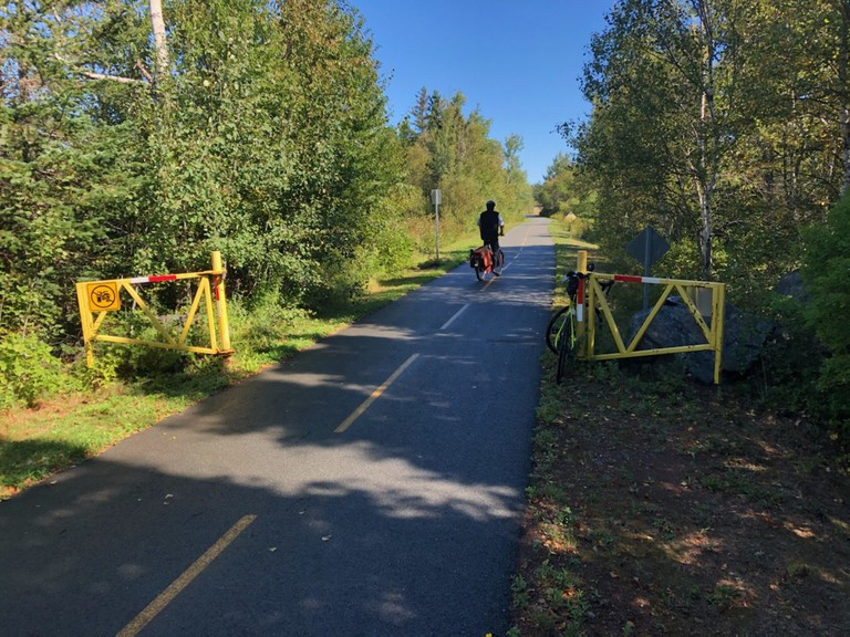 Sentiers Verts Chaleur Green Trails has requested support from the Chaleur Regional Service Commission for a dual trail, which would include a paved cycling trail, from Bathurst to the Acadian Peninsula. Shown is the Véloroute in the Acadian Peninsula.