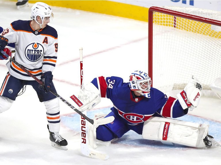 Montreal goalie Jake Allen of Fredericton, shown in action against the Edmonton Oilers, believes the Canadiens are a good team despite their recent struggles. The Canadiens fired head coach Claude Julien and associate Kirk Muller on Wednesday.