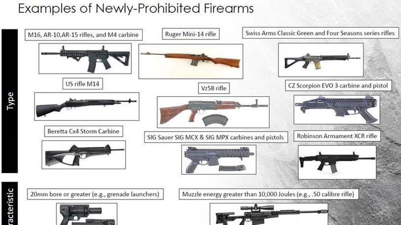 The Trudeau government blacklisted in 2020 a long list of military grade assault weapons in Canada, prohibiting the sale, transport, import and use of more than 1,500 models and variants of guns.