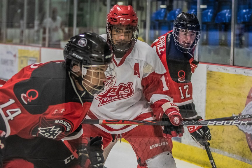 Sixteen-year-old forward Noah Gibbs of St. Basile has maintained a positive attitude despite injuries and the COVID-19 pandemic which have interrupted his past three hockey seasons.