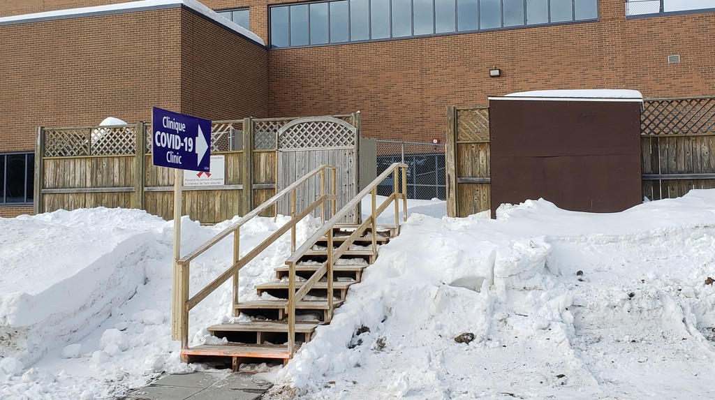 The new COVID-19 test site at the Campbellton Regional Hospital opened on Feb. 8.