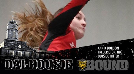 Annik Boldon will join her sister Brett with the Dalhousie Tigers women's volleyball program next season.