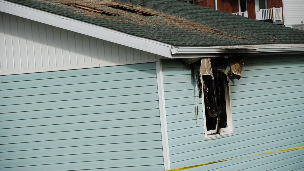 The body of 71-year-old Lucille Maltais in her burned out home on Rue Melanson in Val d'Amour in 2016. Her son Charles Maltais pleaded guilty to manslaughter and arson in her death and was to have been sentenced on Feb. 19, but due to a clerical error necessary reports were not filed and the matter has been put over to April 23.