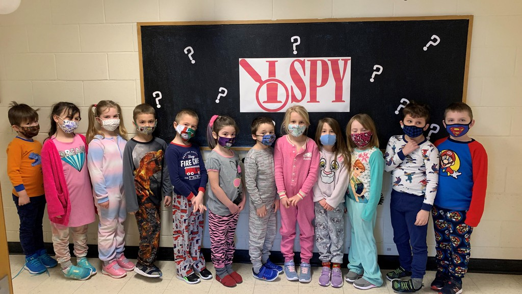 Students at Andover Elementary School enjoyed an 'I Spy' theme for Literacy Day celebrations held recently. Literacy Day celebrations are a tradition at the school and this year was no exception. From left are Tammy Wright's students Easton Sockabasin, Lily Ciecelski-Williams, Karlie Forsythe, Mason Sooley, Aaron Little, Alexis Goodine, Ethan Shirley, Adelynn Broad, Makayla Hancock, Khloe Hathaway, Jace Young and Gunna MacDougall.
