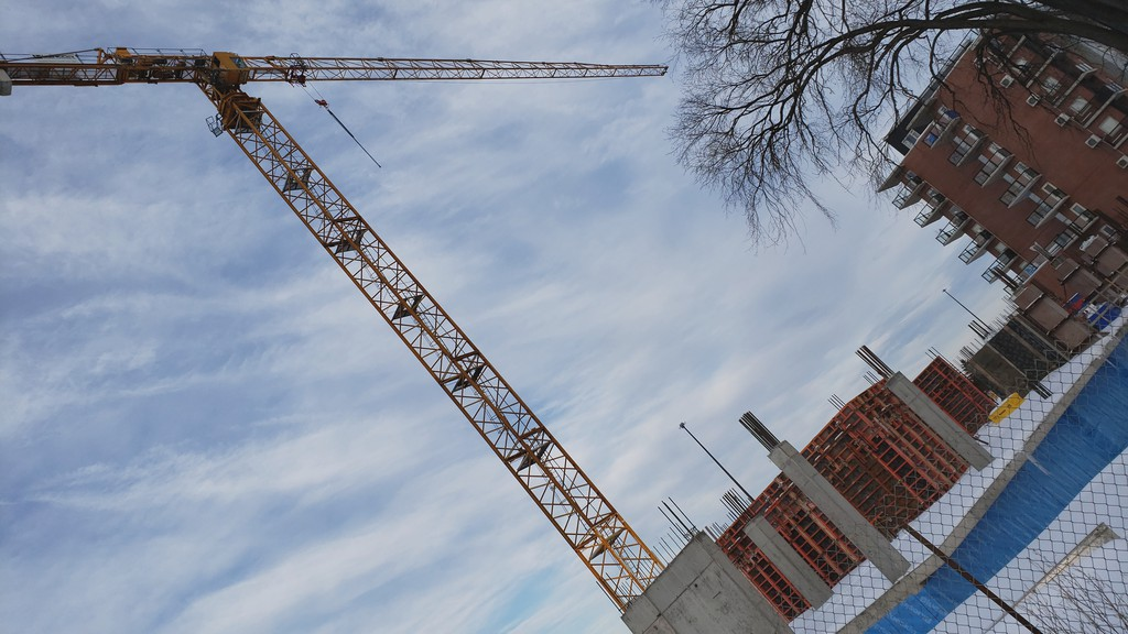 A new apartment building goes up on Queen Street. Residential construction in Fredericton was worth $96.4 million in 2020, compared to $54.8 million in 2019, according to newly released data from the city.