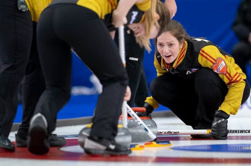 Team New Brunswick skip Melissa Adams, and her Capital Winter Club crew, has dropped to 3-4 and out of contention at the Scotties Tournament of Hearts in Calgary.