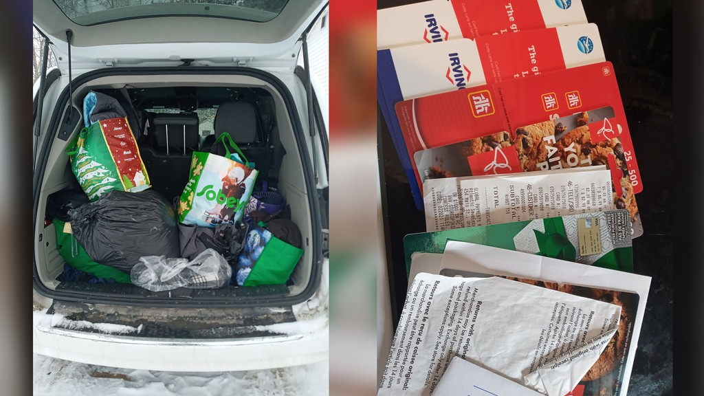 Neighbour and family friend Jessica Ferguson organized donations from the community to support Robert and Bonnie Allen, who lost their Viola Avenue home Friday night to a fire. Ferguson said she was almost overwhelmed by the response, with gift cards, clothes, and toiletries filling her van up twice.