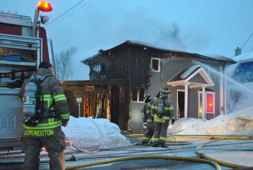 A residence on 35th Avenue in Edmundston was destroyed by fire early Monday evening.