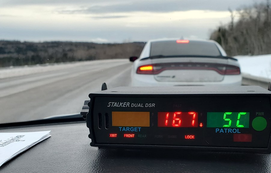 The RCMP issued two tickets to a driver speeding on Highway 1 near Norton on Monday after reaching speeds of 167 km/h and 137 km/h.