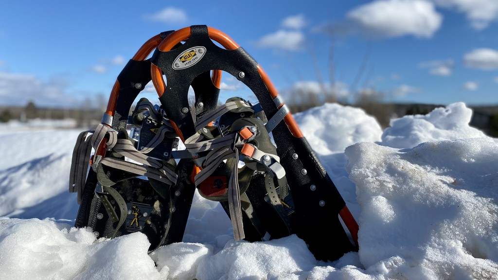 A woman was rescued on the Kingston Peninsula Tuesday night after a pair of Mounties borrowed snowshoes from a neighbour and tracked her several kilometres into the woods.