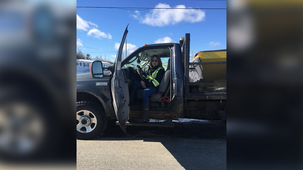 Lorie Brown, owner of Snow Plowing West Saint John, said business this year has been better than any of the past three years despite a milder winter. She chalks it up partly to being one of the few female snow plow operators in the province.