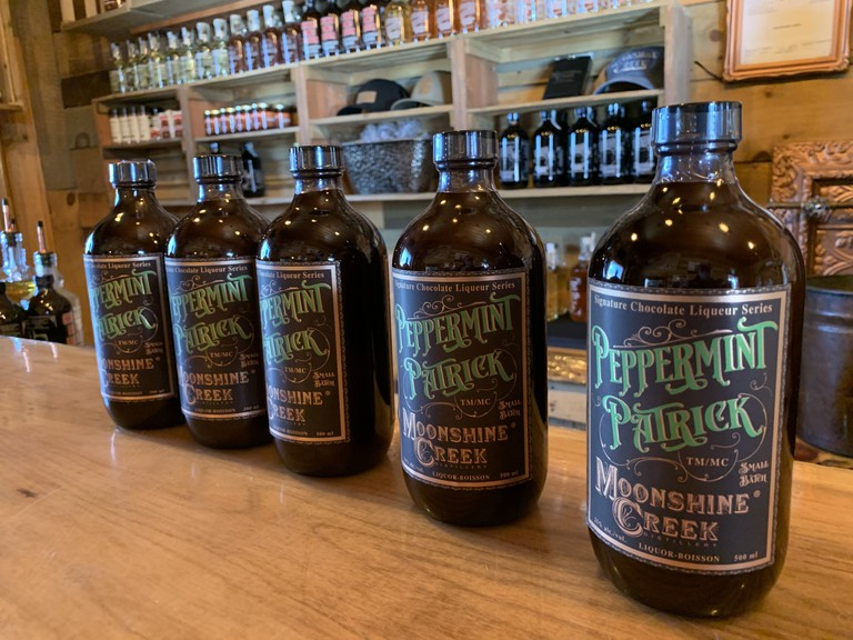 Moonshine Creek Distillery's latest holiday-inspired liqueur is Peppermint Patrick. The distillery will launch a small batch run of 5,500 bottles of the liqueur on March 4 through NB Liqour outlets and the distillery store.