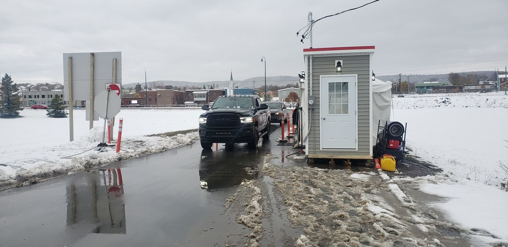 The Restigouche Regional Service Commission said Feb. 25 it was going to continue to push for a more open border in the area, given the effect of restrictions on the economy and people's mental health. Pictured is the border checkpoint at Campbellton.