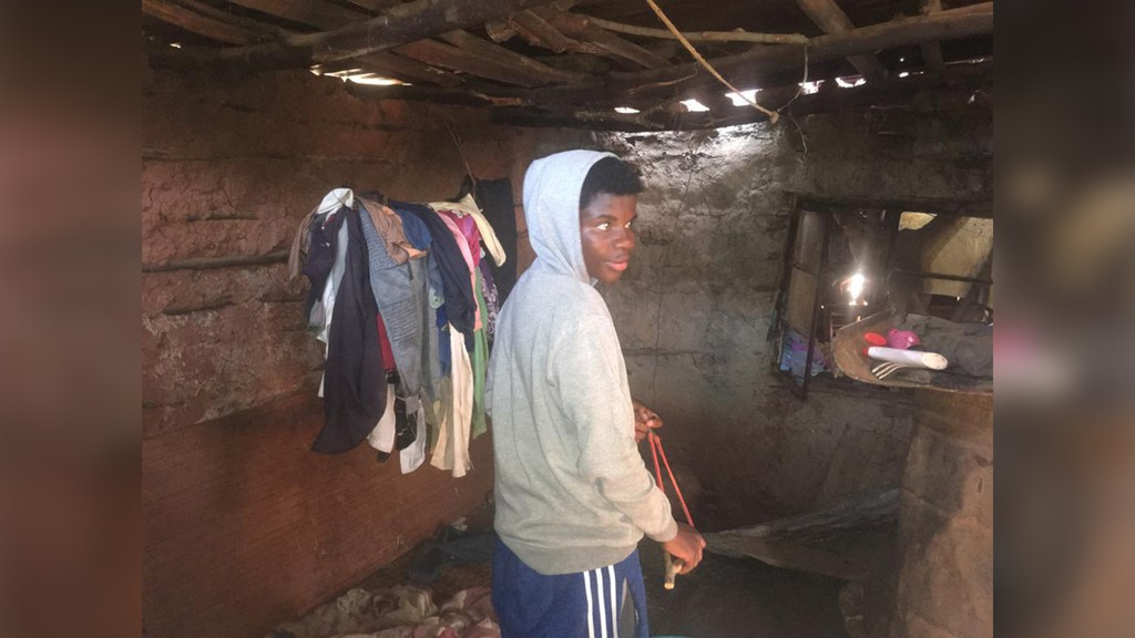 Mehluko, 18, lives in a mud and stick home in Swaziland and is at risk of of loosing out on completing his education, writes Mark Bettle in his latest column, so the Hampton-Piggs Peak Partnership is fundraising to help sponsor him.