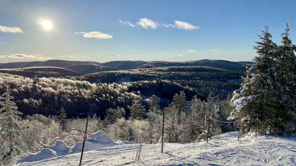 Starting Saturday, snowshoers will be able to take in views like this from the top of Poley Mountain thanks to a pair of dedicated snowshoe trails the resort has opened.
